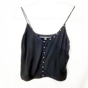 GUESS Black Cropped Cami Silver Dot EUC
